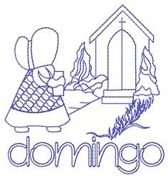 Spanish Sunday Church Lady embroidery design