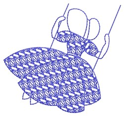 Bluework Swinging Sue embroidery design