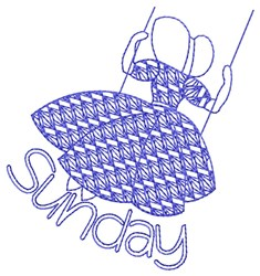 Sunday Swinging embroidery design