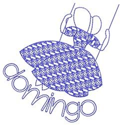 Spanish Sunday Lady embroidery design