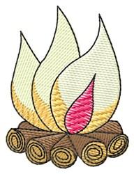 Campfire embroidery design