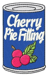 Cherry Pie Filling embroidery design
