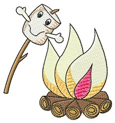Marshmallow and Fire embroidery design
