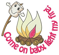Light My Fire embroidery design