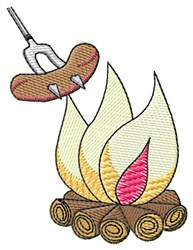 Hot Dog and Fire embroidery design