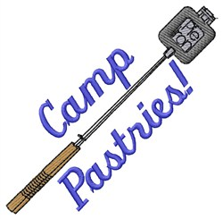 Camp Pastries embroidery design