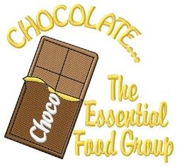Chocolate Food Group embroidery design