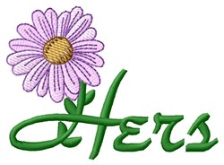 Hers Towel Flower embroidery design