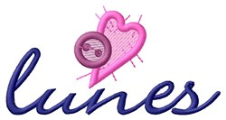 Button Lunes embroidery design