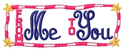 Me To You embroidery design