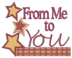 From Me To You embroidery design