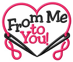 Me To You Heart embroidery design