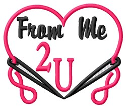 Me 2 You embroidery design