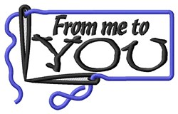 Me To You Rectangle embroidery design