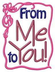 Me To You Ribbon embroidery design