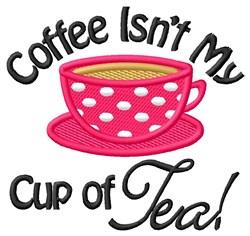 Coffee Isnt Tea embroidery design
