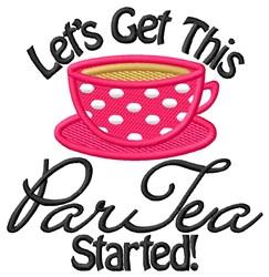 Par Tea embroidery design