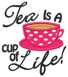 Cup of Life embroidery design