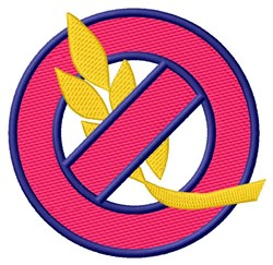 No Wheat embroidery design