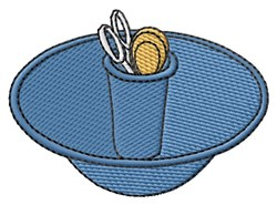 Snippet Bowl embroidery design