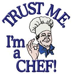 Trust Chef embroidery design