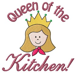 Kitchen Queen embroidery design