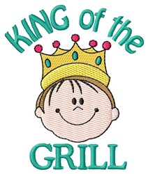 King Of Grill embroidery design