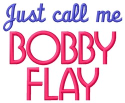 Bobby Flay embroidery design