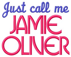 Jamie Oliver embroidery design