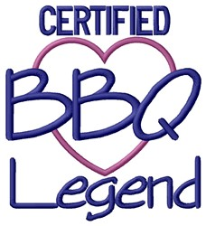 BBQ Legend embroidery design