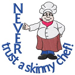 Skinny Chef embroidery design