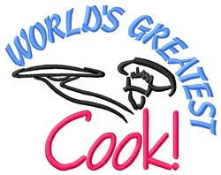 Greatest Cook embroidery design