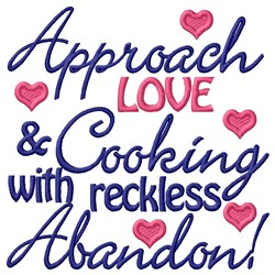 Approach Cooking embroidery design