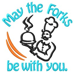 The Forks embroidery design
