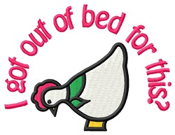 Out Of Bed embroidery design