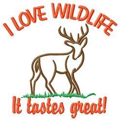 Love Wildlife embroidery design