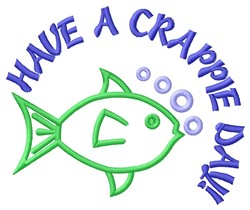 Crappie Day embroidery design