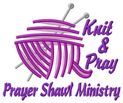 Knit & Pray embroidery design