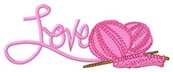 Love Knitting embroidery design