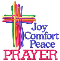 Comfort Prayer embroidery design