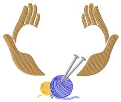 Knit Hands embroidery design