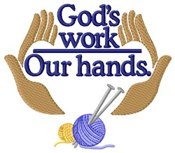 Gods Work embroidery design