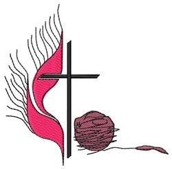 Cross & Yarn embroidery design