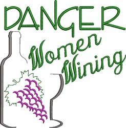Women Wining embroidery design