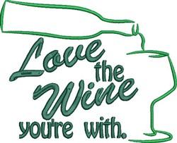 Love The Wine embroidery design