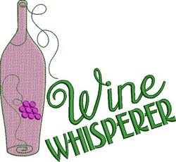 Wine Whisperer embroidery design