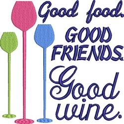 Good Wine embroidery design