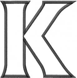 Toga Outline Kappa embroidery design