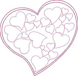 Valentines Day Heart Outline embroidery design