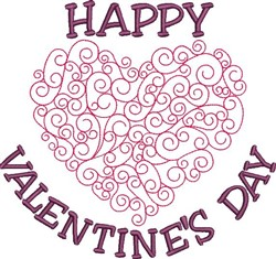 Happy Valentines Day! embroidery design